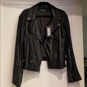 NWT Gabrielle Union NY and Company Leather Jacket